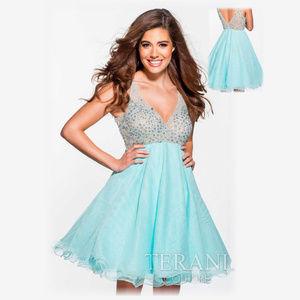 NWT Short V-neck Prom Terani sequin dress